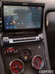Guages inside the turbocharged Acura NSX