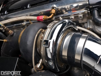 Turbo in the TRD Toyota Supra