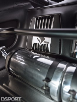 Nitrous Oxide in the back of the TRD Toyota Supra