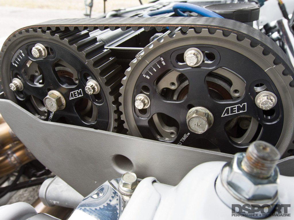 Cam gears on the 4G63