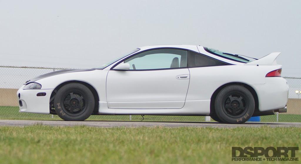 Side shot of the Mitsubishi Eclipse