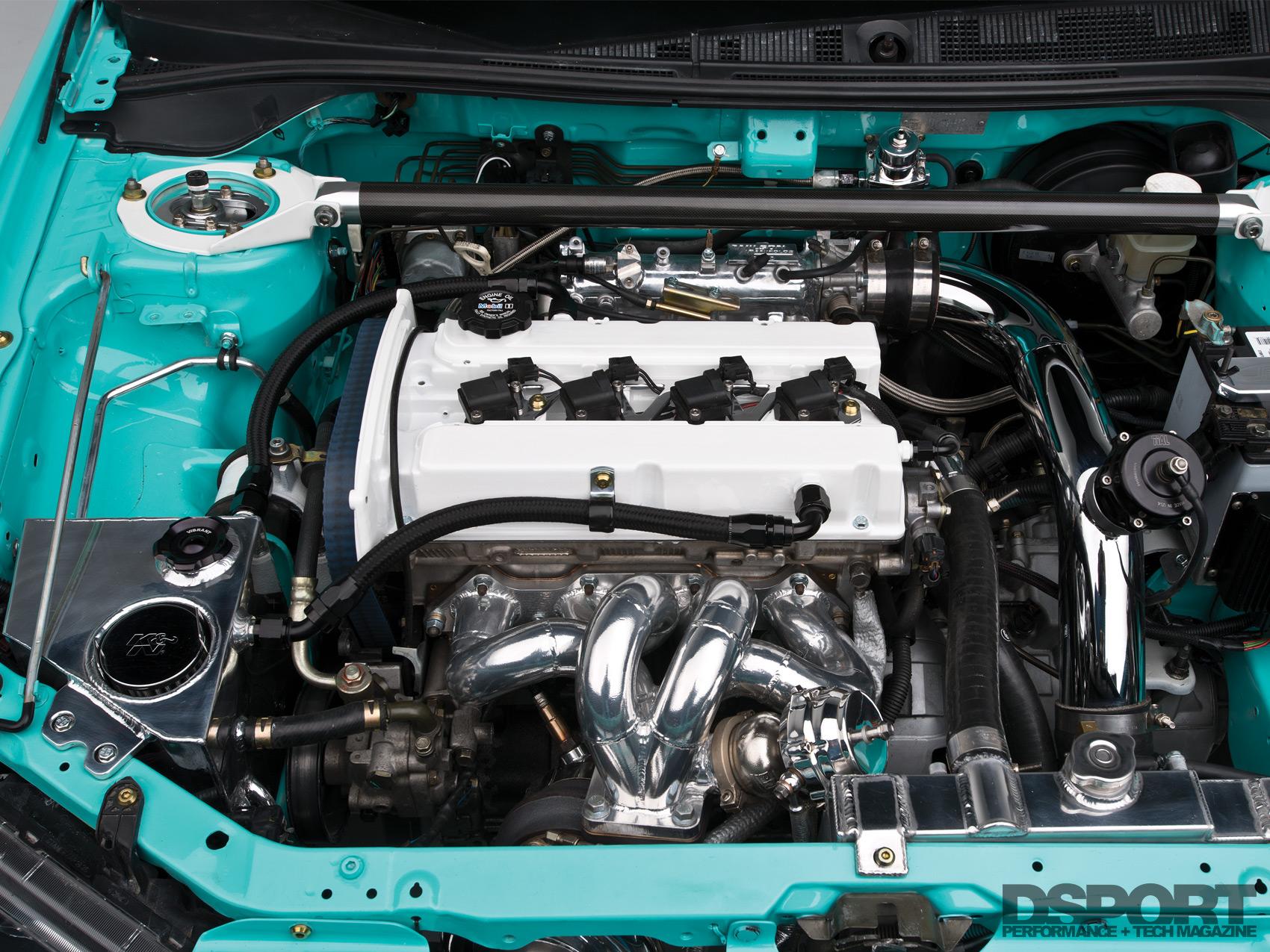 Tristan Smith's Evo Engine Bay