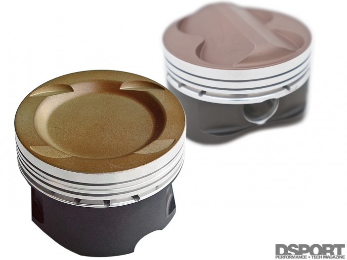 Dished vs           Domed pistons