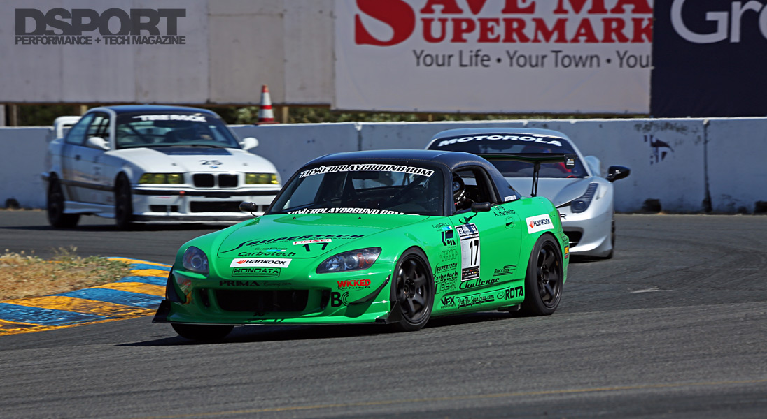 Tangs Green S2k at the track