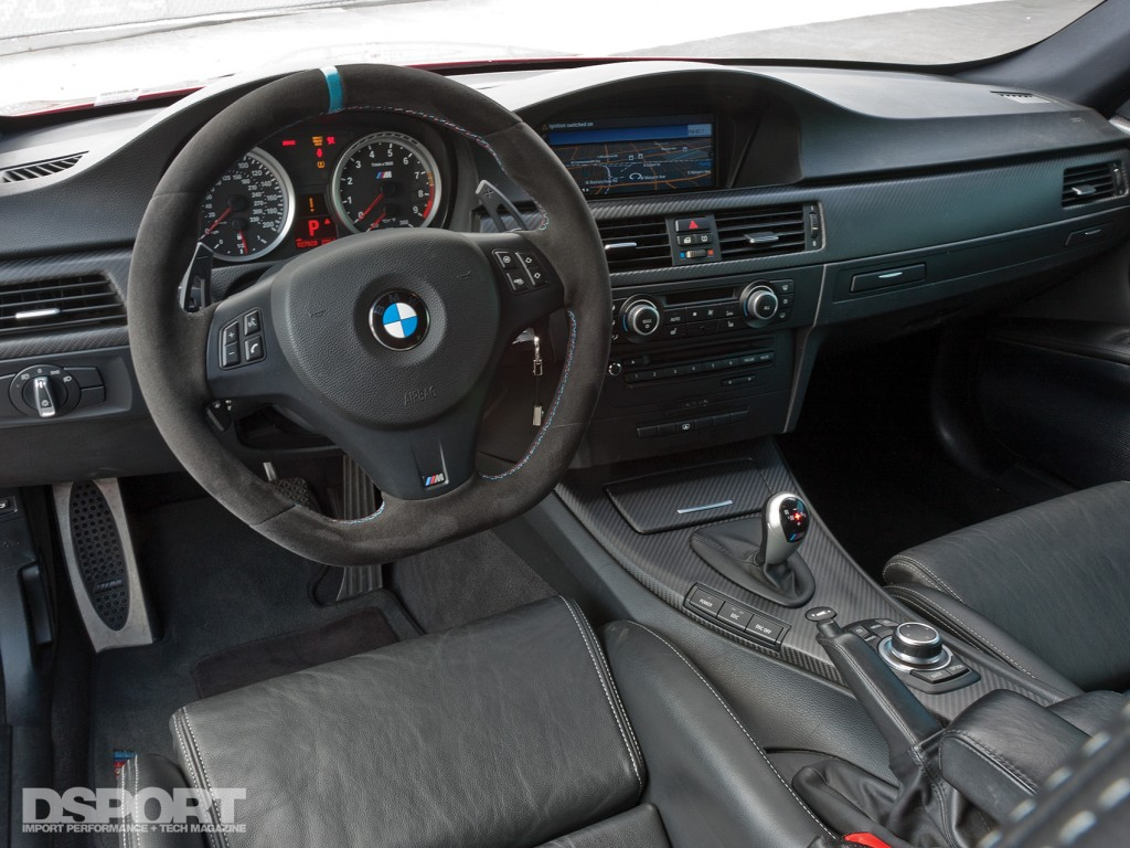 The interior of Ricky Kwan's BMW M3