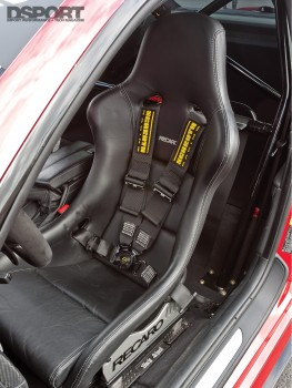 A recaro in Ricky Kwan's BMW M3