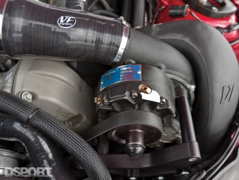 The supercharger for Ricky Kwan's BMW M3