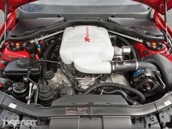 The engine bay of Ricky Kwan's BMW M3