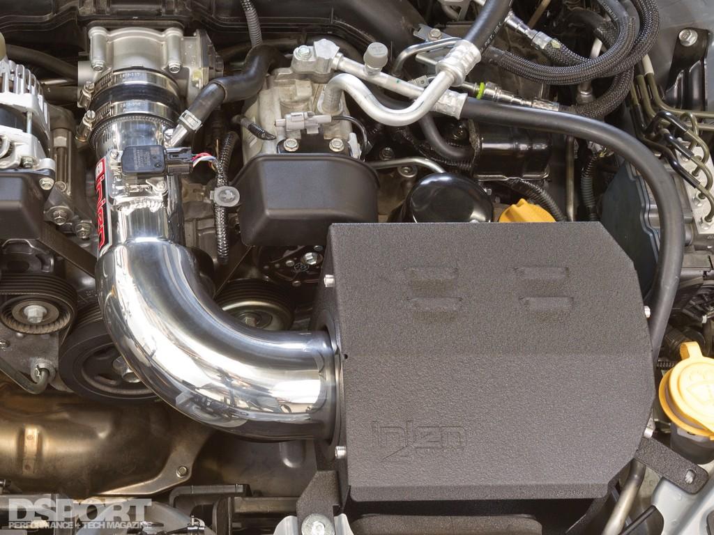 Injen intake installed in the FR-S