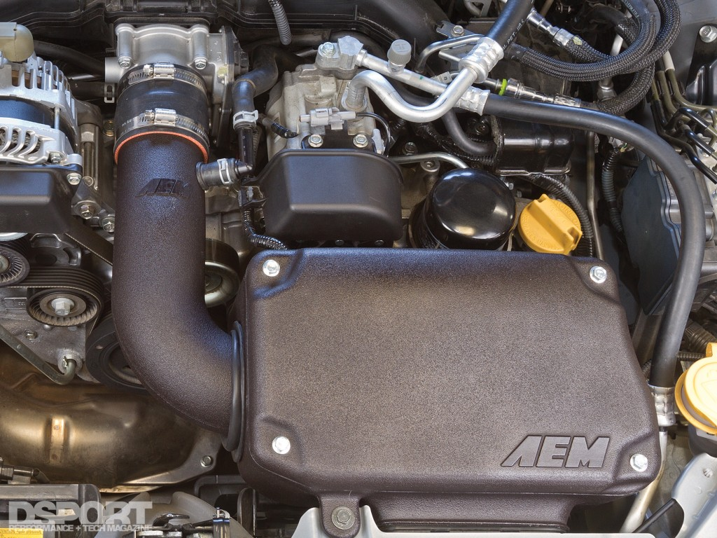AEM intake installed in the FR-S