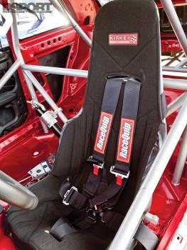 Kirkey seat in the Subaru Impreza RS