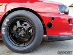 Wheel and tire on the Subaru Impreza RS