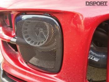 Front facing turbo on the Subaru Impreza RS