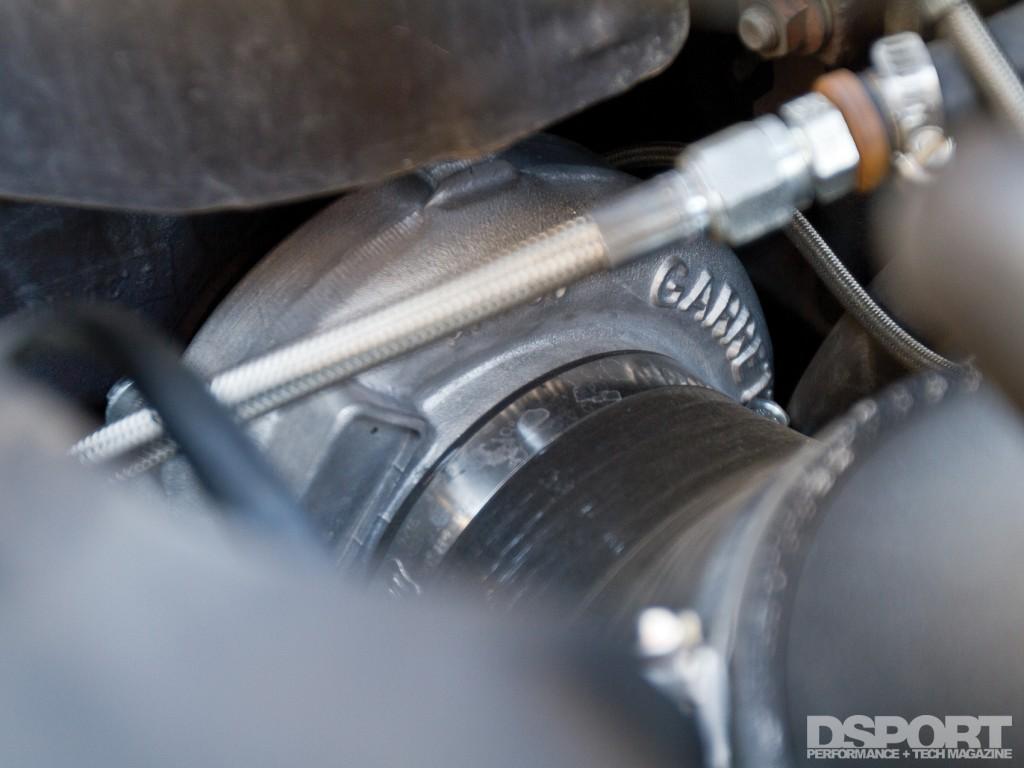 EVO IX dyno test vehicle turbo