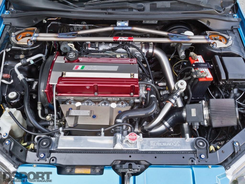 4G63 engine in Bruzewski's Mitsubishi EVO VIII