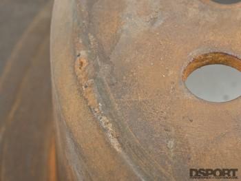 Muriatic acid on rusted brake