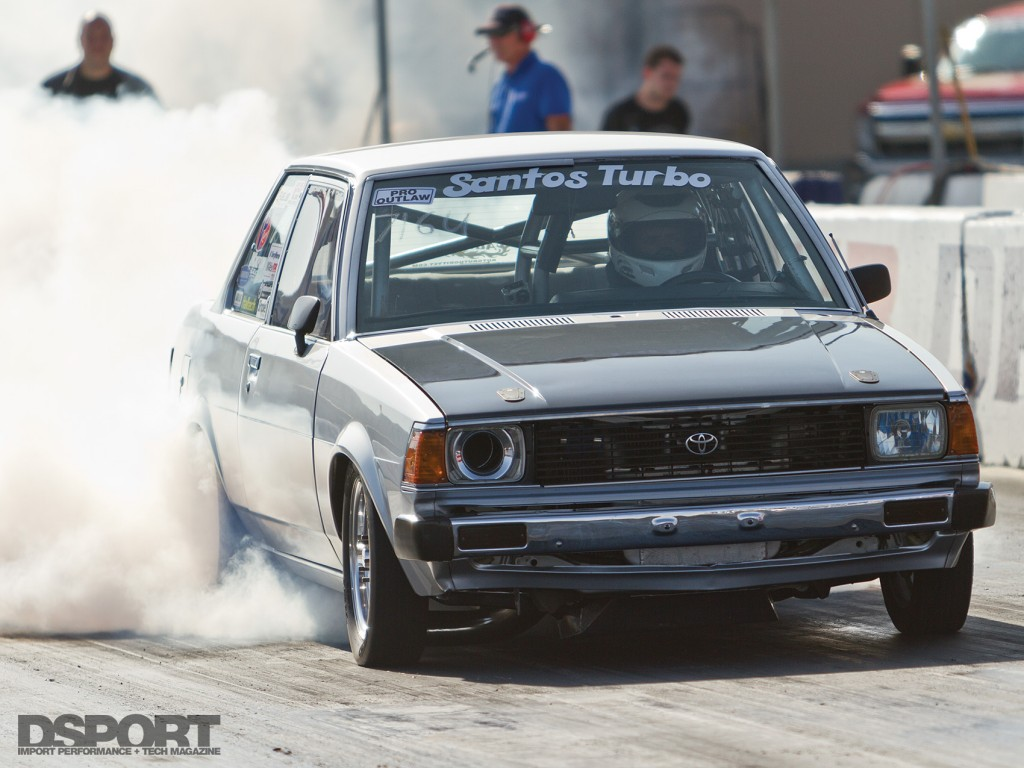 Toyota Corolla with a drag racing Differential