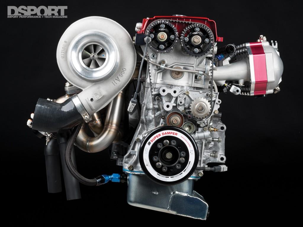 Example of turbocharged honda engine