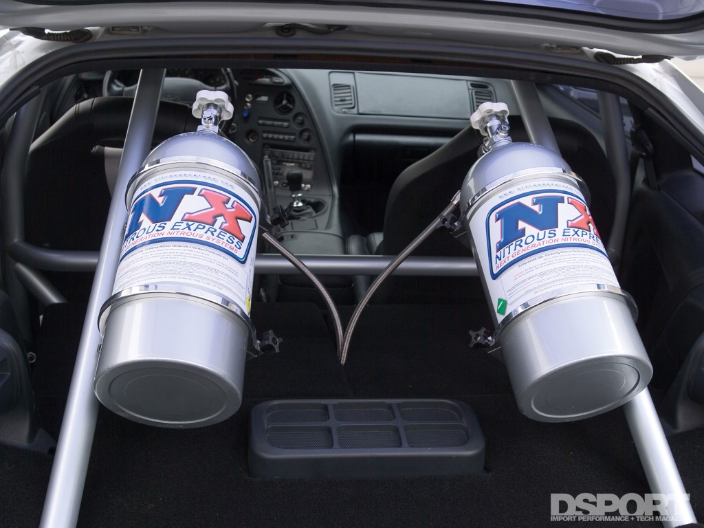 Nitrous Oxide in trunk of supra