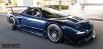 NSX driving on the streets