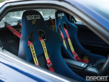 Sparco seats in the NSX driving on the streets