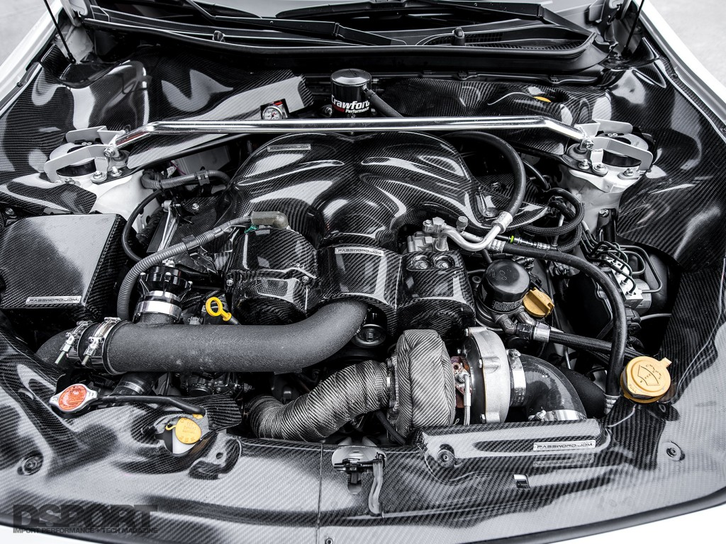 The engine bay of the Leong FR-S