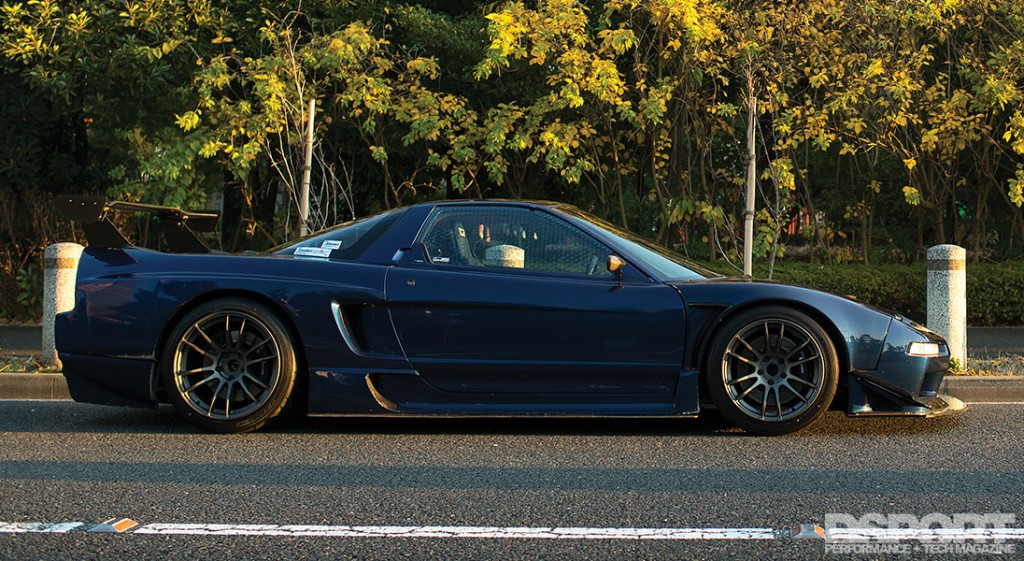 Side shot of the NSX
