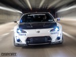 The Leong FR-S driving on the road