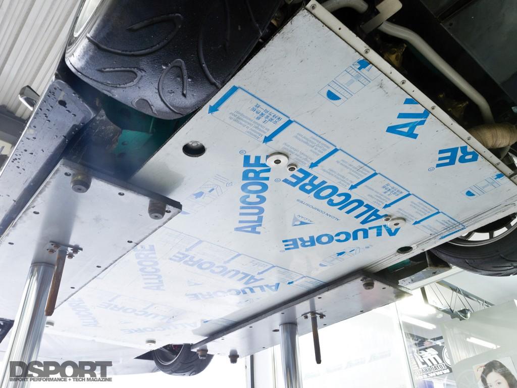 Underside aero on the J's Racing S2000