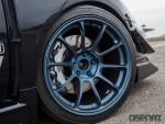 The volk racing wheels on Tomczek's Subaru STI