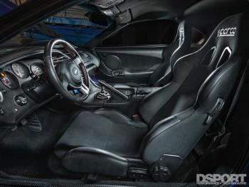 Interior inside the 1,307 WHP Street Toyota Supra