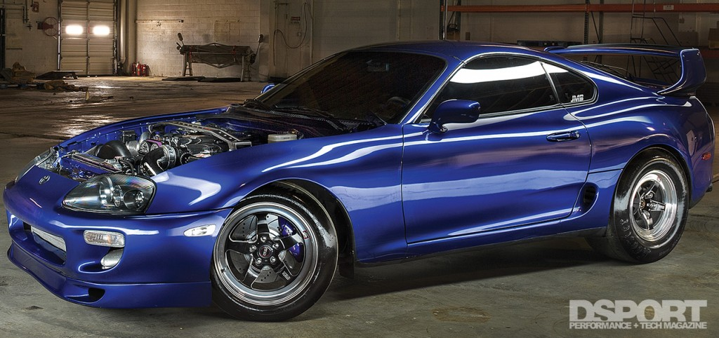 1,307 WHP Street Toyota Supra with the hood off