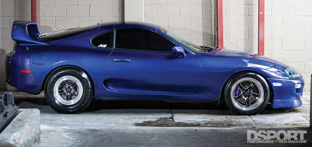 Side profile of the 1,307 WHP Street Toyota Supra