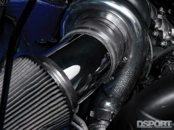 Precision turbo on the 1,307 WHP Street Toyota Supra