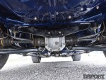 Under the chassis of the Mitsubishi Mirage