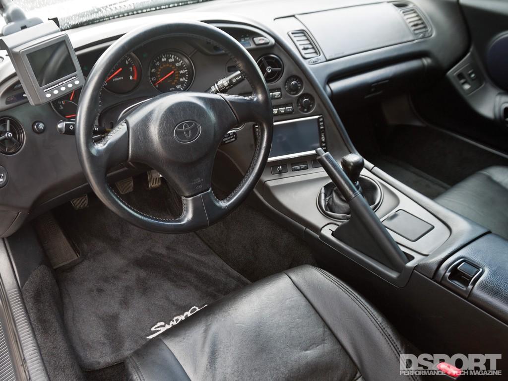 Interior of 1,075 WHP Toyota Supra