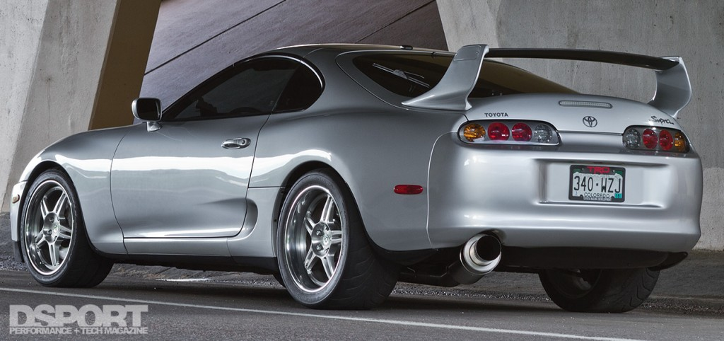 Back view of 1,075 WHP Toyota Supra