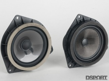 The carbon cone of the OEM Audio+ sound system