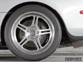 HRE wheels with Toyo tires on the 1,075 WHP Toyota Supra