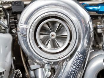 Precision turbo on the 1,075 WHP Toyota Supra