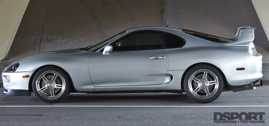 Side profile on the 1,075 WHP Toyota Supra