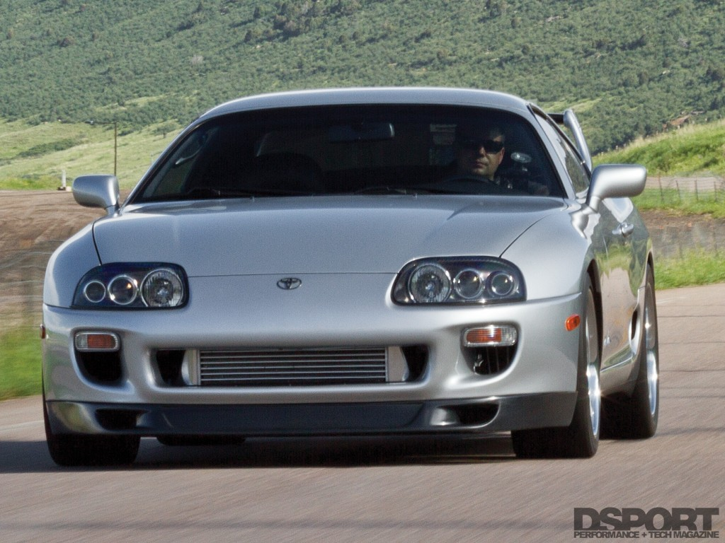 1,075 WHP Toyota Supra driving on the road