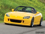Front of the 600 HP Turbocharged Honda S2000 driving