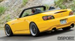 Back of the 600 HP Turbocharged Honda S2000 while driving