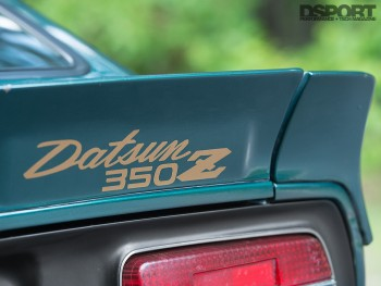 Spoiler on the Twin Turbocharged VQ-powered Datsun 240Z