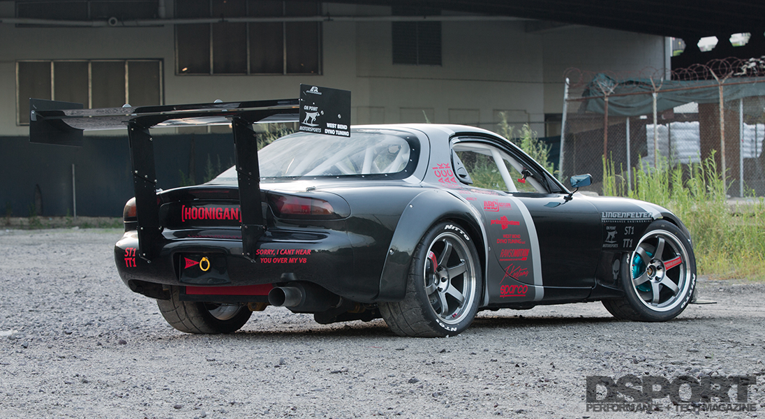 This 445 WHP RX7 V8 Mash Up Yields Balance and Reliability