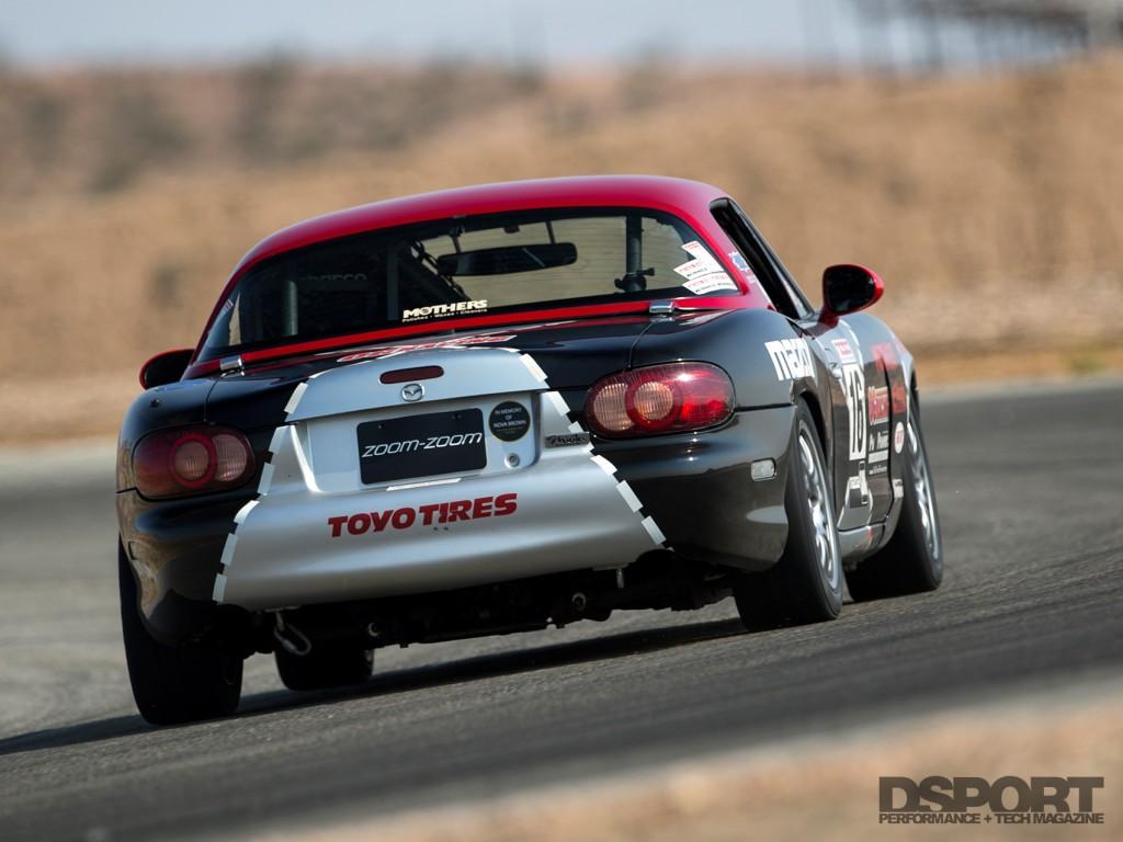 Mazda racecar on track