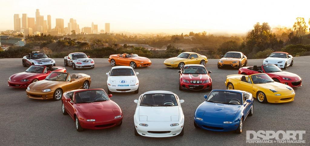 All models of Mazda Miata including MX-5