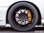 Wheel and tire on the 585hp STI