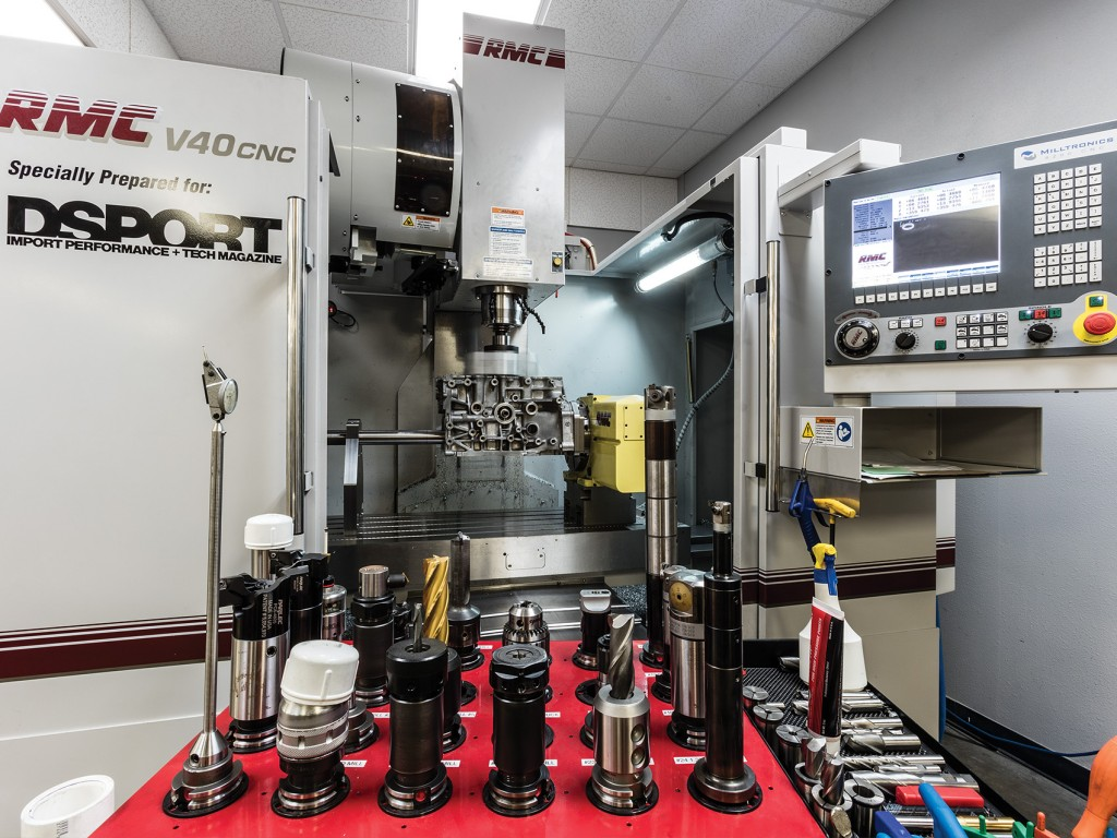 The DSPORT CNC machine with tools